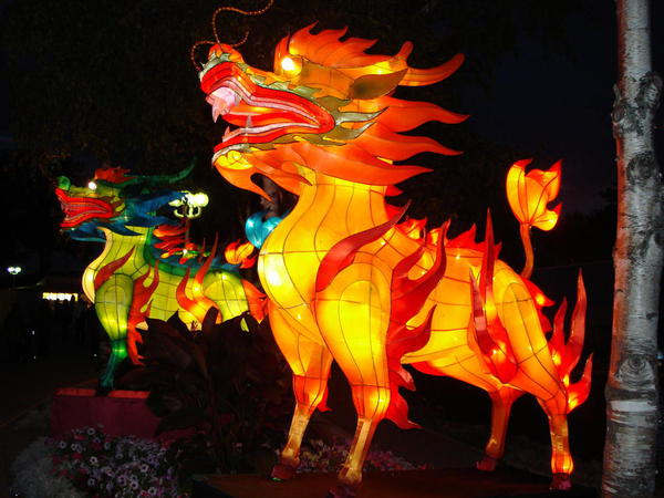 Chinese lantern festival in Toronto's Ontario Place