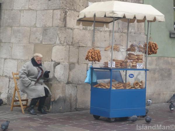 obwarzanek vendor, Krakow