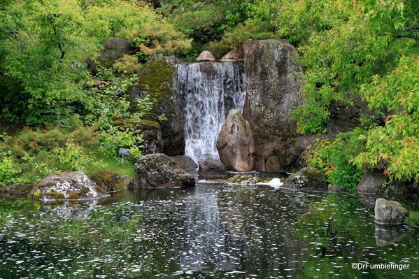 Nikka Yuko Japanese Garden, Lethbridge. Mountain and waterfall