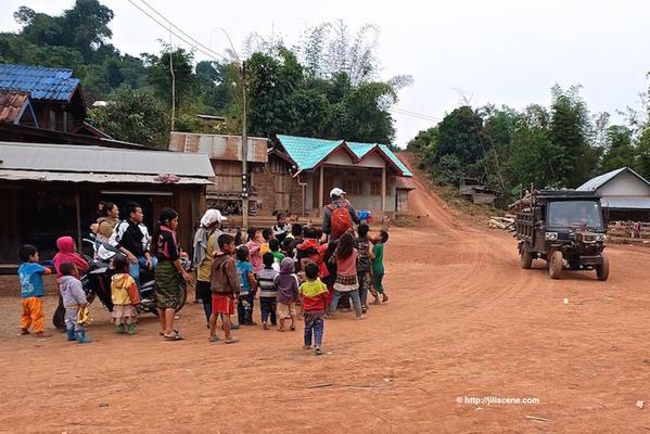 3). Akha village children