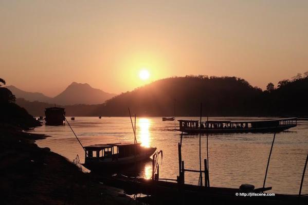 5). Sunset on the Mekong
