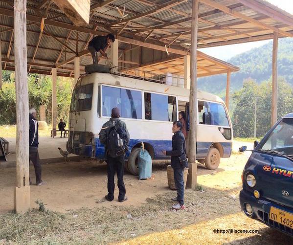 14) Bus Station at Muang Khua