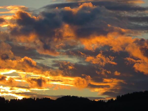 Rocky Mountain Sunset, Alberta
