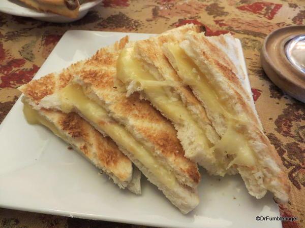 Grilled cheese sandwiches, La Chocolatta, Puenta Arenas, Chile