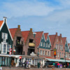 The Volendam waterfront is lines with restaurants, shops and photo galleries