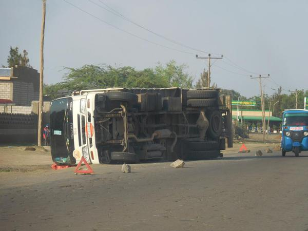 Traffic accidents are common on the road