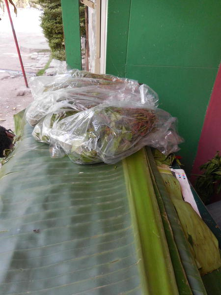 The bags of Chat, a naturatl stimulant chewed by the locals
