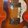 An original Hofner Violin Bass Guitar signed by the Fab Four, The Beatles Shop at Beatles LOVE, a Cirque du Soleil show, The Mirage Casino and Resort: Las Vegas, Nevada