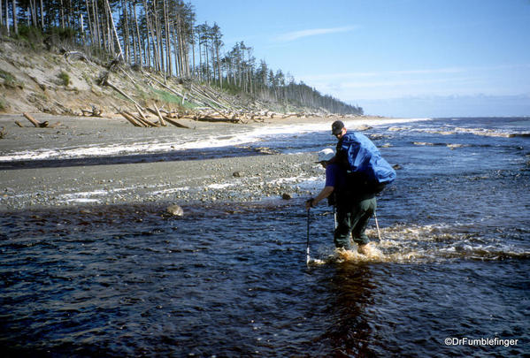 Oenada River crossing, East Beach Trail, Haida Gwaii