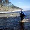 Oenada River crossing, East Beach Trail, Haida Gwaii
