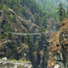 A high footbridge before the ascent into Namche.  Courtesy Wikimedia and Steve Hicks