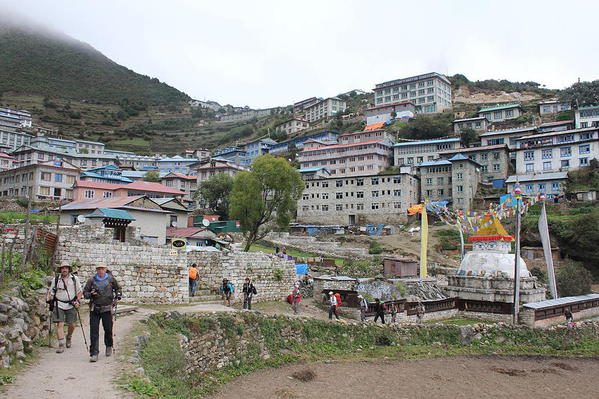Namche Bazaar. Courtesy Wikimedia and Michelle Welsch