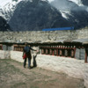 Prayer wheels, above Namche Bazaar