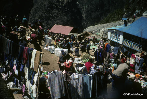 Market at Namche Bazaar