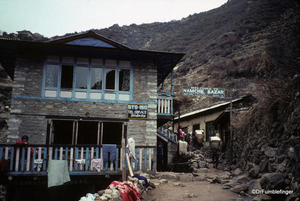 Entering Namche Bazaar