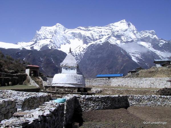 Stupa above Namche Bazaar