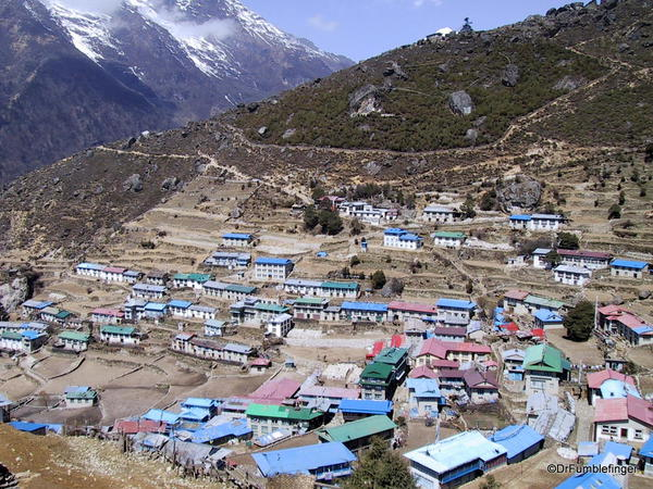 The town of Namche Bazaar