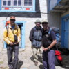Getting ready to hit the road, Namche Bazaar.  Conrad Anker to the left