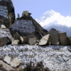 Prayer stones above Namche Bazaar