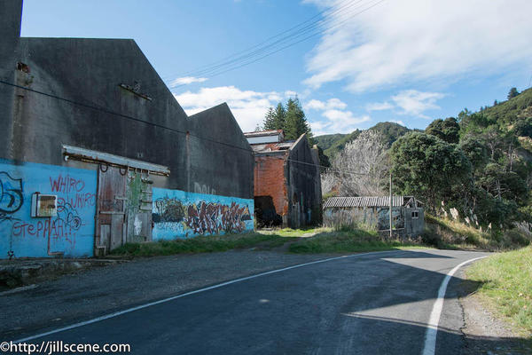 4). The ruins of the freezing works at Tokomaru