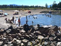 Swimming at Hood River