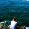 On the jetty: Blue Contemplation