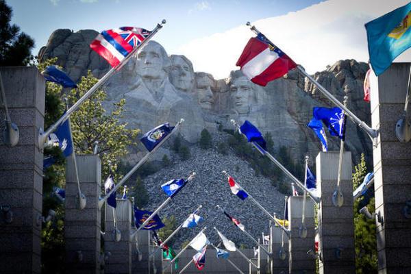 Mt. Rushmore flags