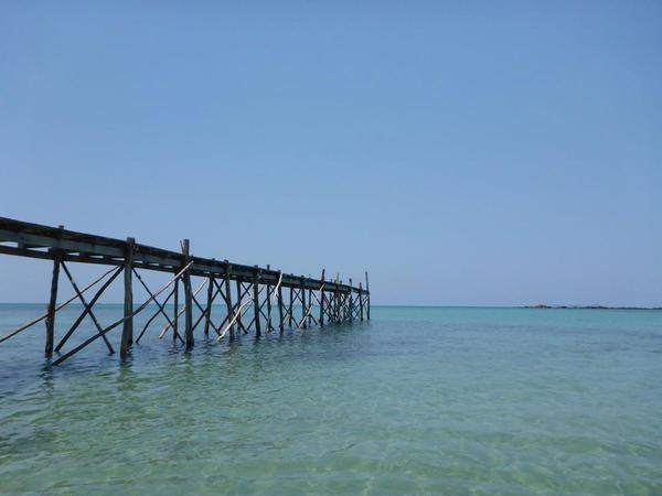 11. Pier at Dusita Resort, Kohn Kod, Thailand.