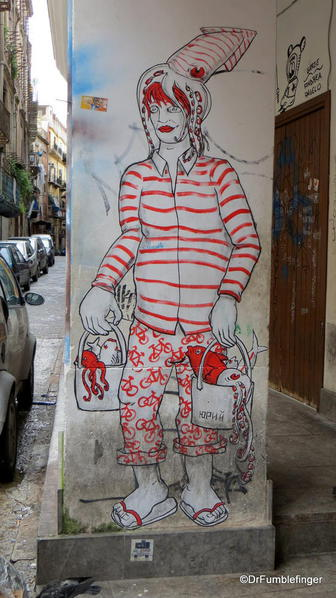Street art around La Vuccirie Market, Palermo