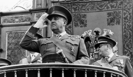 Francisco Franco, from the 1960s. Courtesy of AFP.