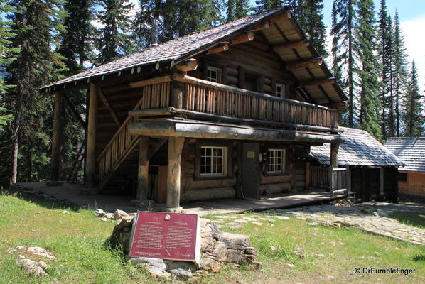 Twin Falls Chalet. Built in 1909 by the Canadian Pacific Railroad to provide services for tourists