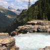 Twin Falls precipice, Yoho Valley