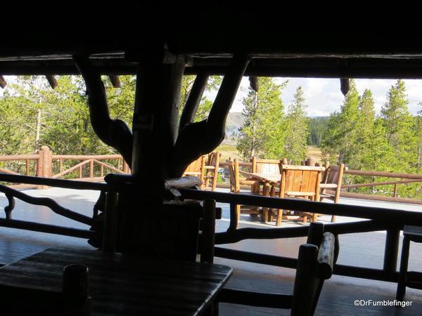 Second floor deck, Old Faithful Inn, Yellowstone National Park