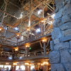 Lobby and fireplace, Old Faithful Inn, Yellowstone National Park