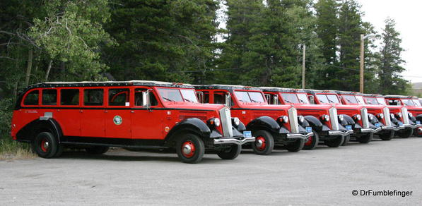 Glacier National Park -- Red Jammers