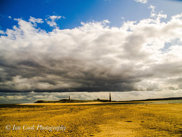 Old Law Beacons, Guile Point, Northumberland, UK