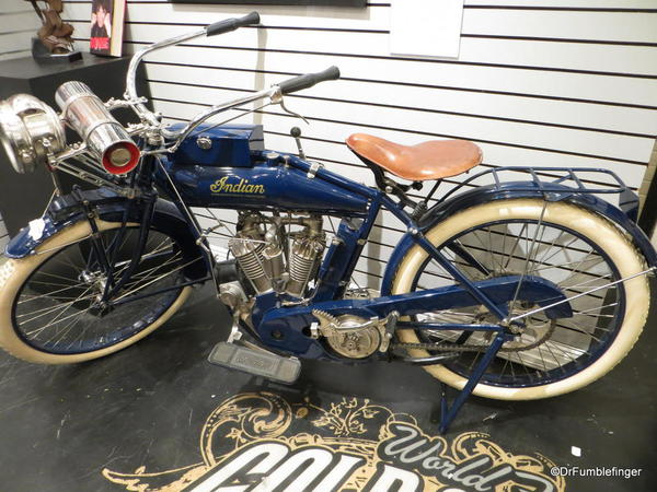 Indian motorcycle, on sale at the Gold and Silver Pawn shop
