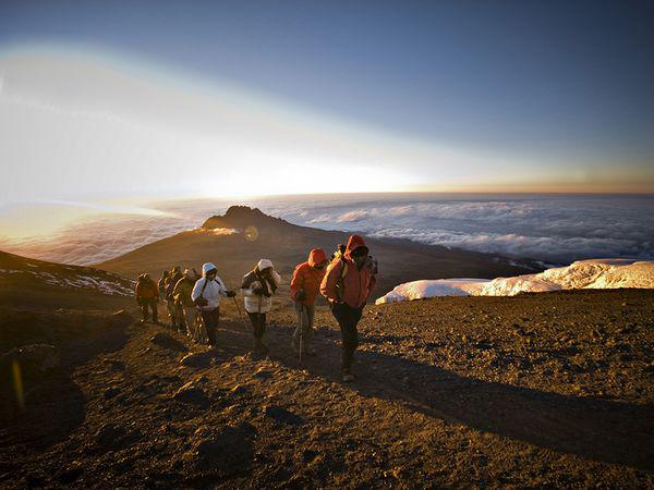 Kilimanjaro hike, courtesy National Geographic online