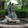 St. Stephen's Green, Dublin.  A fountain representing the Three Fates