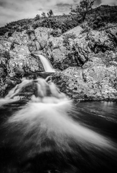 Carew Burn Falls. Harthope Valley. England