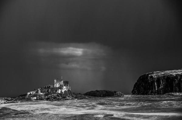 Passing Storm. Bamburgh Castle. England
