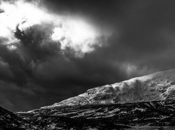 Passing Storm. Scottish Border, Scotland