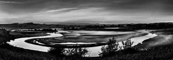 River Aln. Alnmouth. England