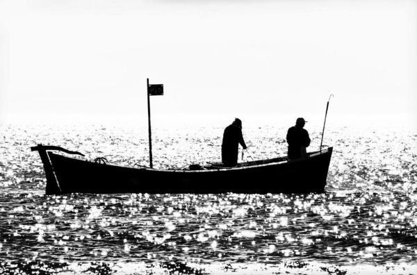 Salmon Fishing. Beadnell Bay. England