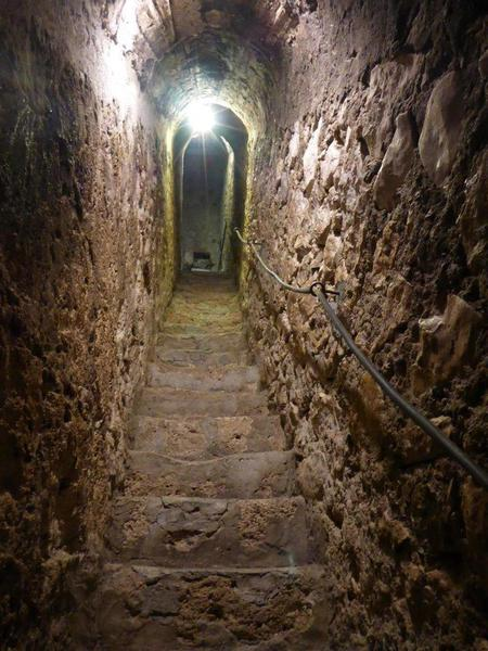 06 The secret staircase in Bran Castle