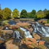 The waterfalls on the Reedy River, Greenville