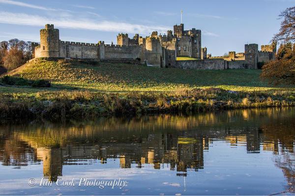 Photo 03-11-2015, 14 15 44 Alnwick Castle reflected in river Aln