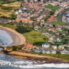 Aerial view of Beadnell, Northumberland