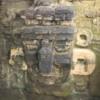 26 2015-11 Guatemala Tikal 096: Mask near temple I