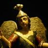44 2015-11 Guatemala Antigua Santo Domingo Monastery 47: Polychrome carved wood statues from Santo Domingo Monastery